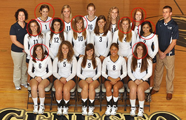 Dailymail – Eleven college volleyball players have been suspended